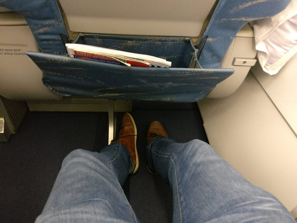 Philippine Airlines regional Business Class Seat Pitch