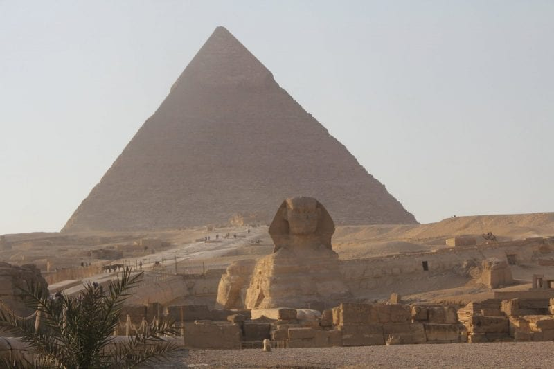 Pyramids of Gizeh with Sphinx 4