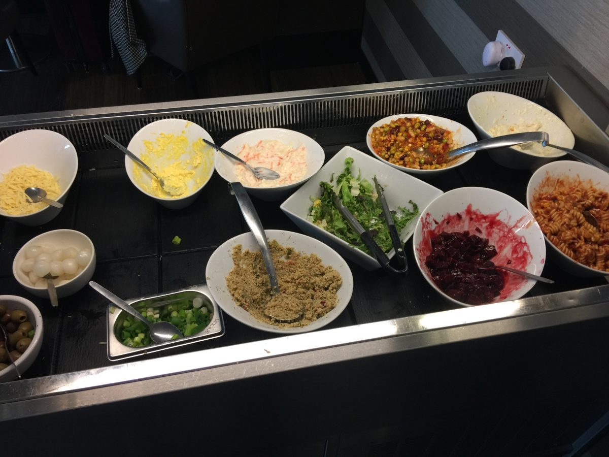 Aspire Lounge Manchester Airport Buffet