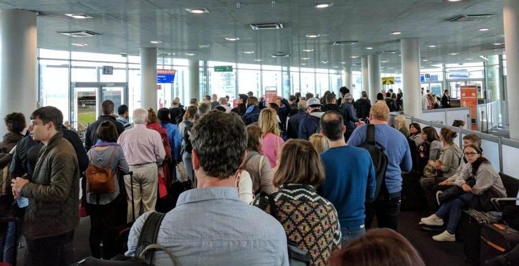 Basel Flughafen Boarding Ryanair