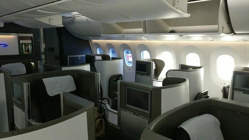 British Airways Business Class Boeing 787 Club World