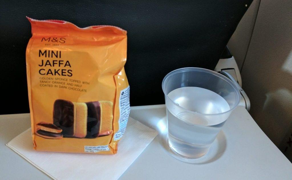 British Airways Economy Class Kurzstrecke Catering