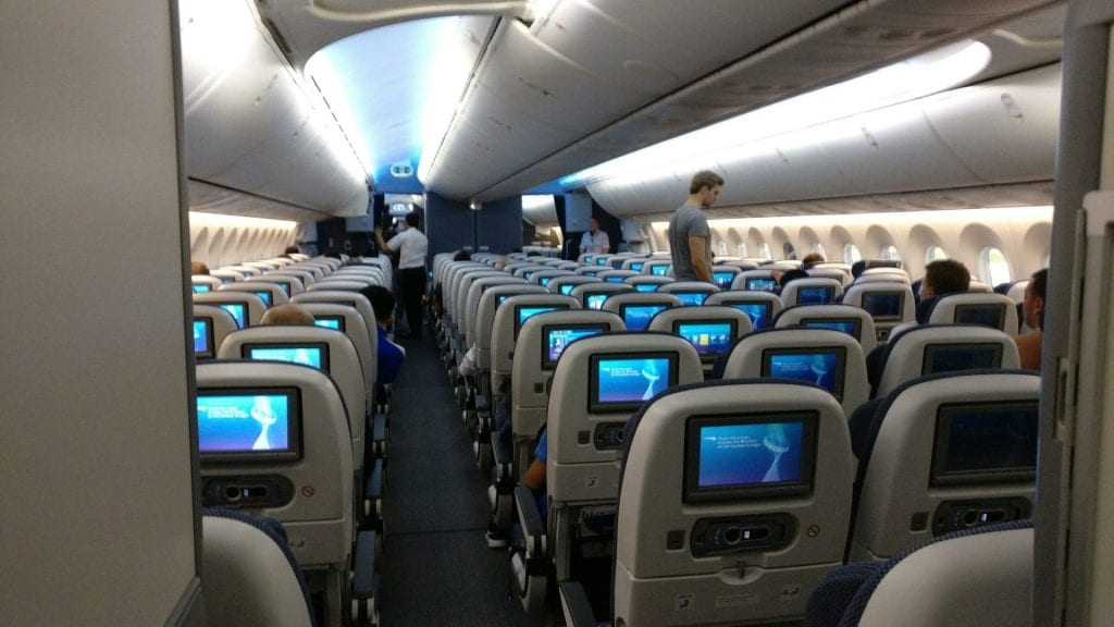 British Airways Economy Class Langstrecke Boeing 787 Kabine