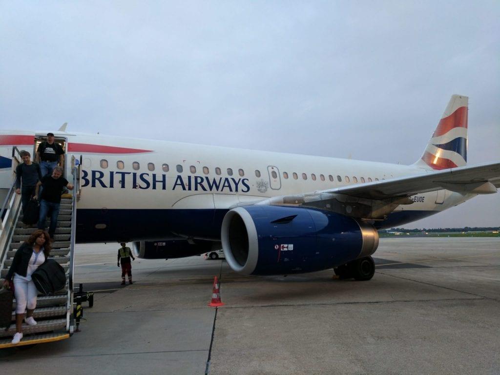 British Airways Economy Kurzstrecke Airbus A319 Düsseldorf DUS