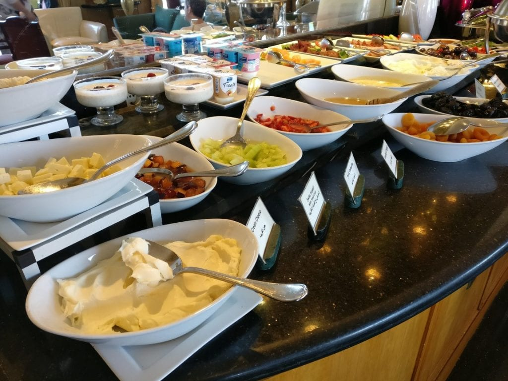Conrad Cairo Executive Lounge Breakfast 2