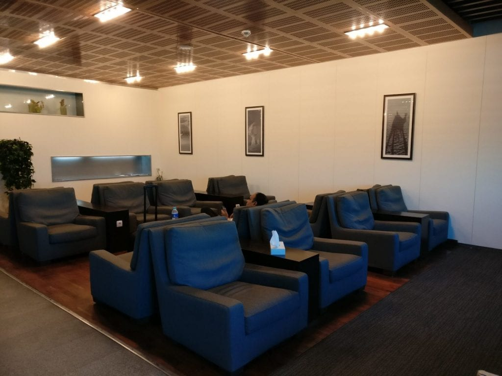 Egypt Air Lounge Cairo Seating 2