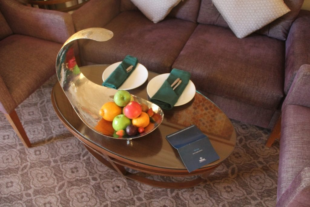 Hilton Alexandria King's Ranch Suite Welcome Treatment