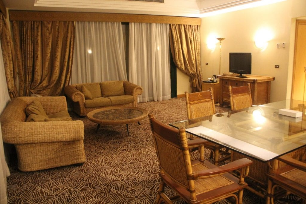 Hilton Pyramids Golf Resort Presidential Suite Living Room 2