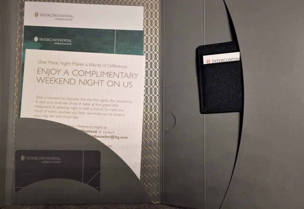 InterContinental Ambassador Welcome Kit