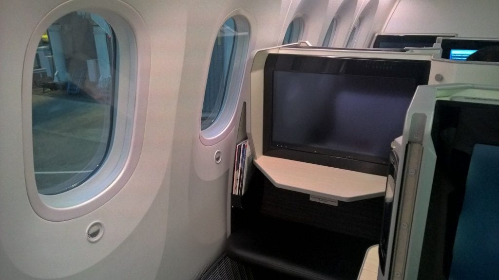 Japan Airlines Business Class Boeing 787 Seat 7