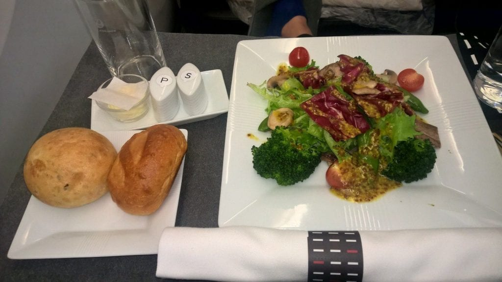 Japan Airlines Business Class Dinner 2
