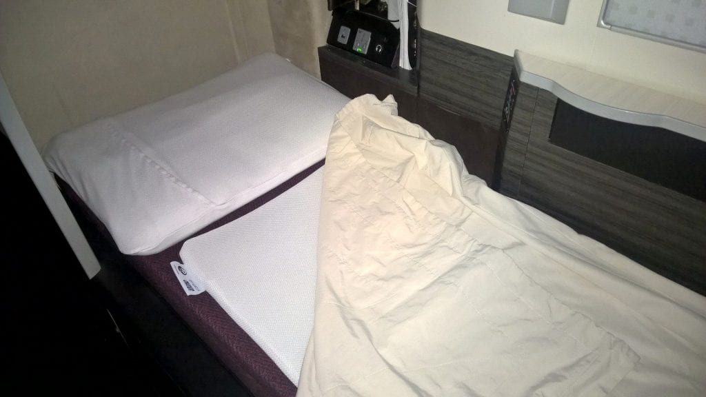 Japan Airlines Business Class Sleeping 3