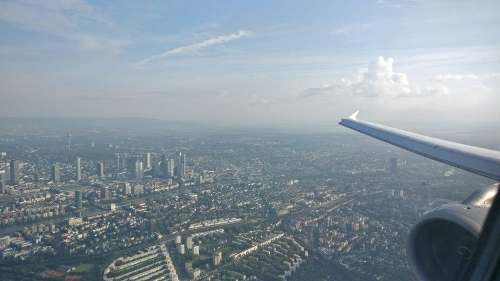 Landeanflug auf Frankfurt