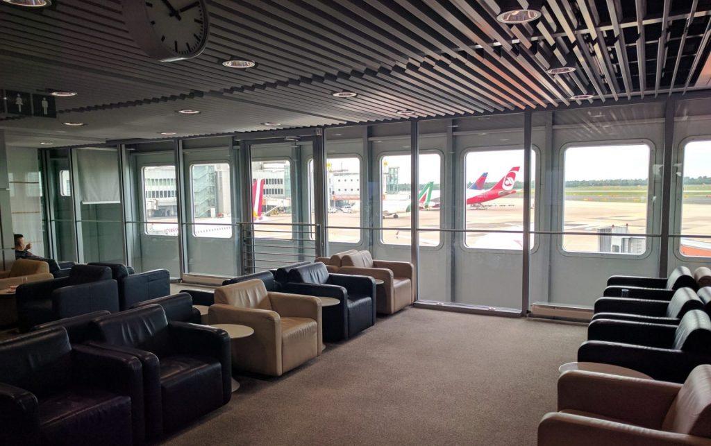 Lufthansa Business Lounge Düsseldorf Ausblick