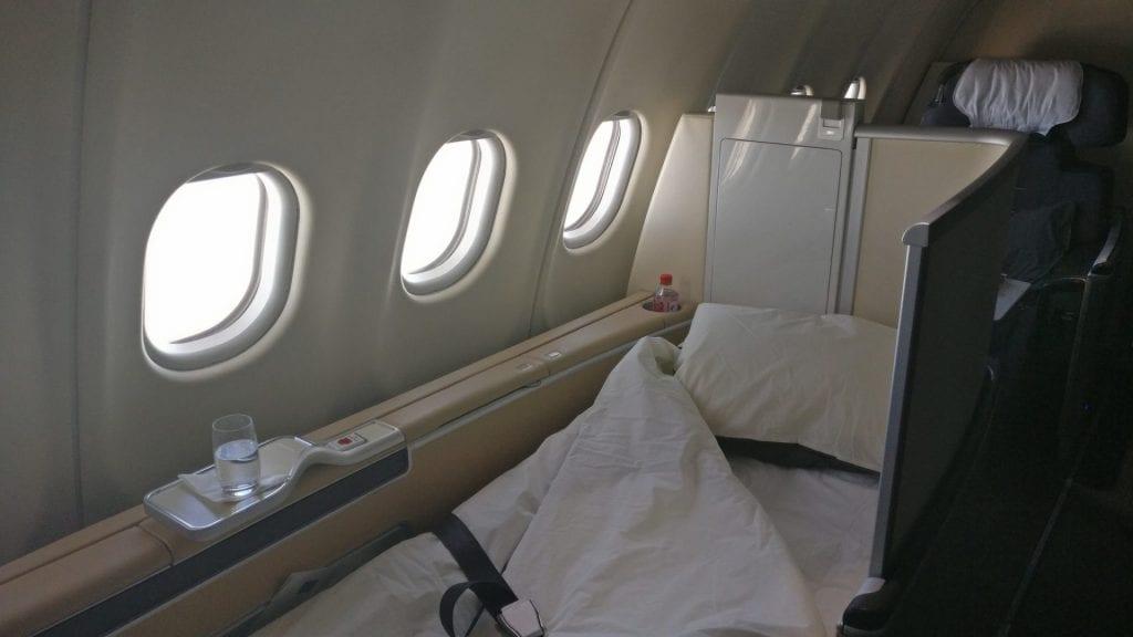 Lufthansa First Class Bett Airbus A330
