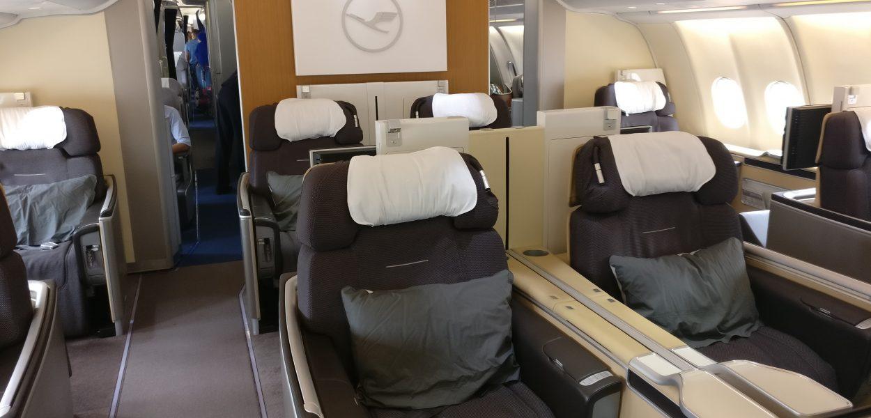 Lufthansa First Class Kabine Airbus A330