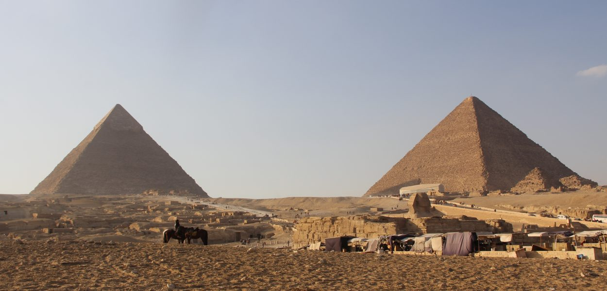 Pyramids of Gizeh with Sphinx