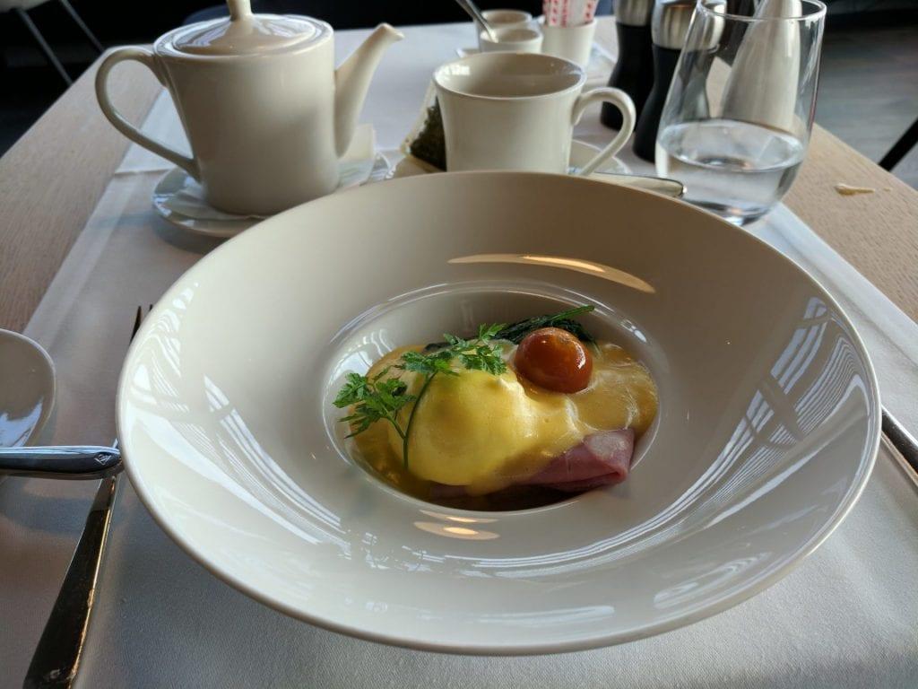 Swiss First Class Lounge Zürich E Eggs Benedict