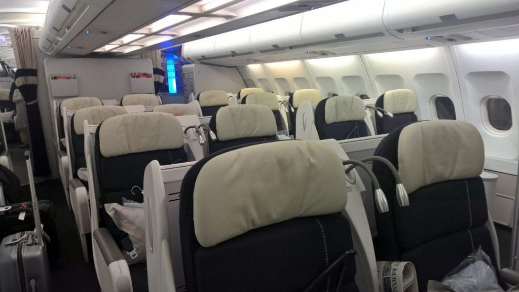 configuration air france business class long haul