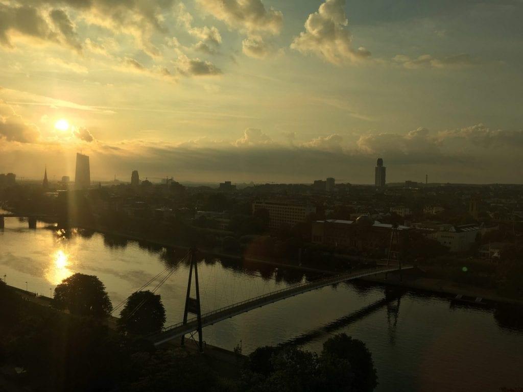 intercontinental frankfurt view