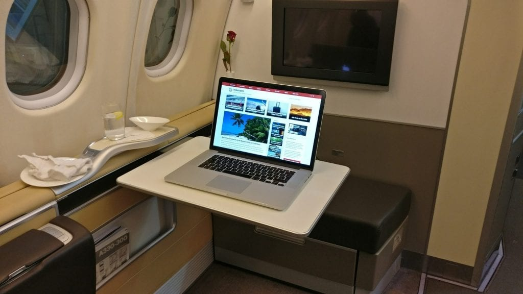 reisetopia Laptop Lufthansa First Class 2