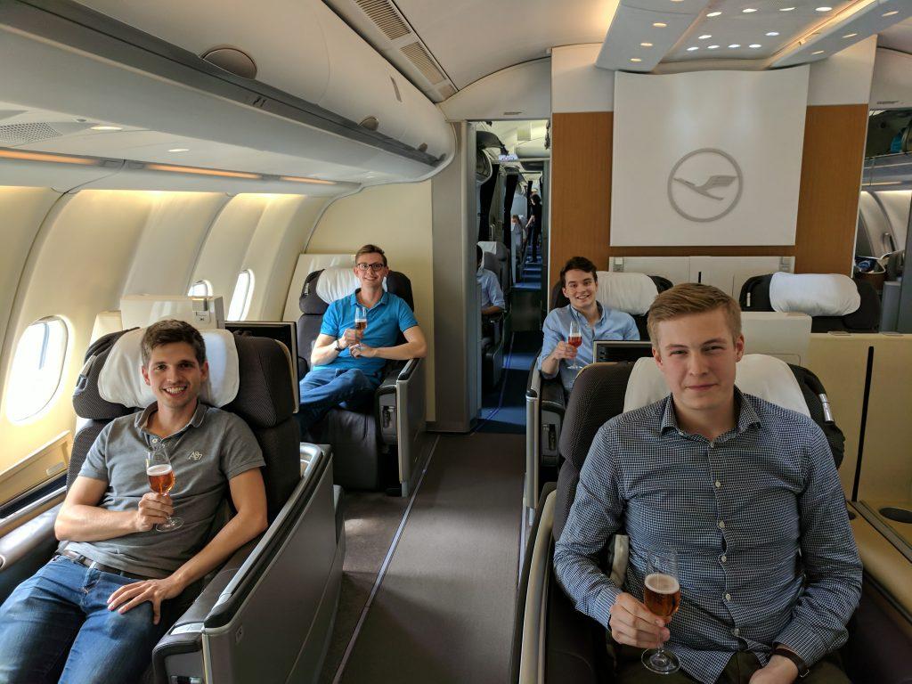 reisetopia in der Lufthansa First Class