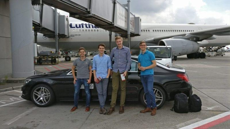 reisetopia vor der Lufthansa First Class