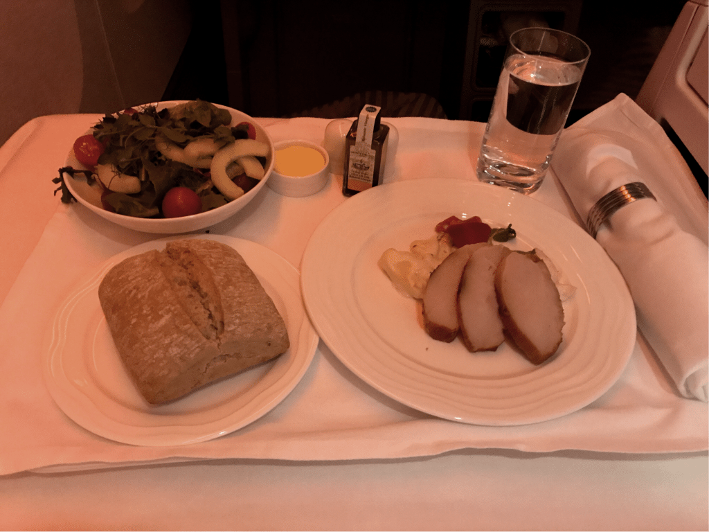 Emirates Business Class Boeing B777 Catering Starter