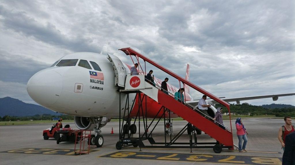 Air Asia Flugzeug Langkawi