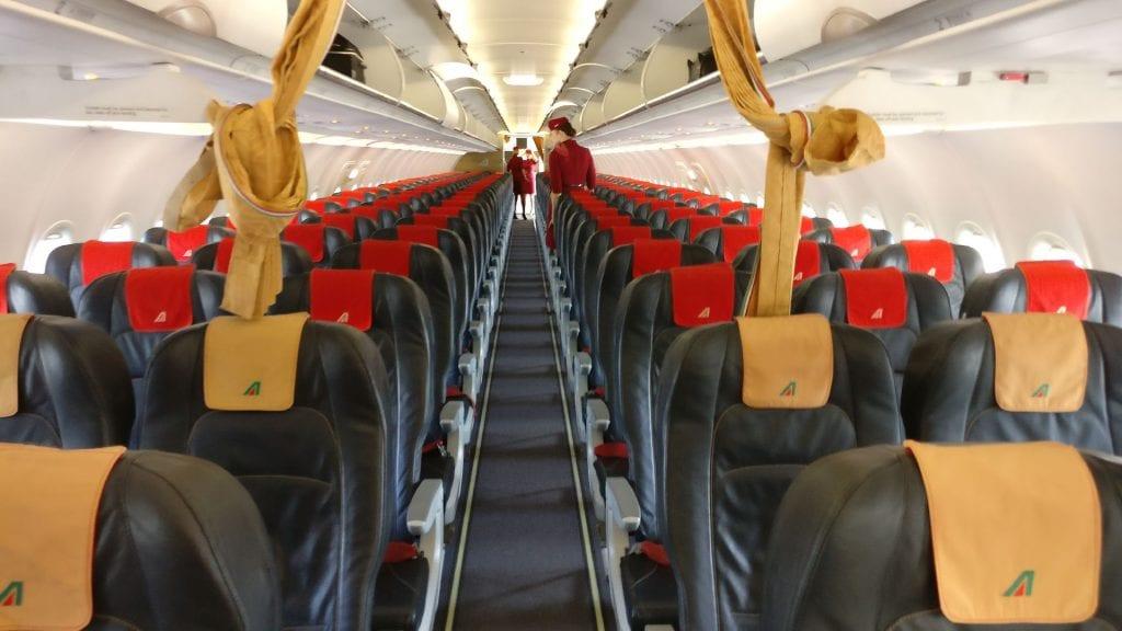 Alitalia Business Class Airbus A320 Cabin