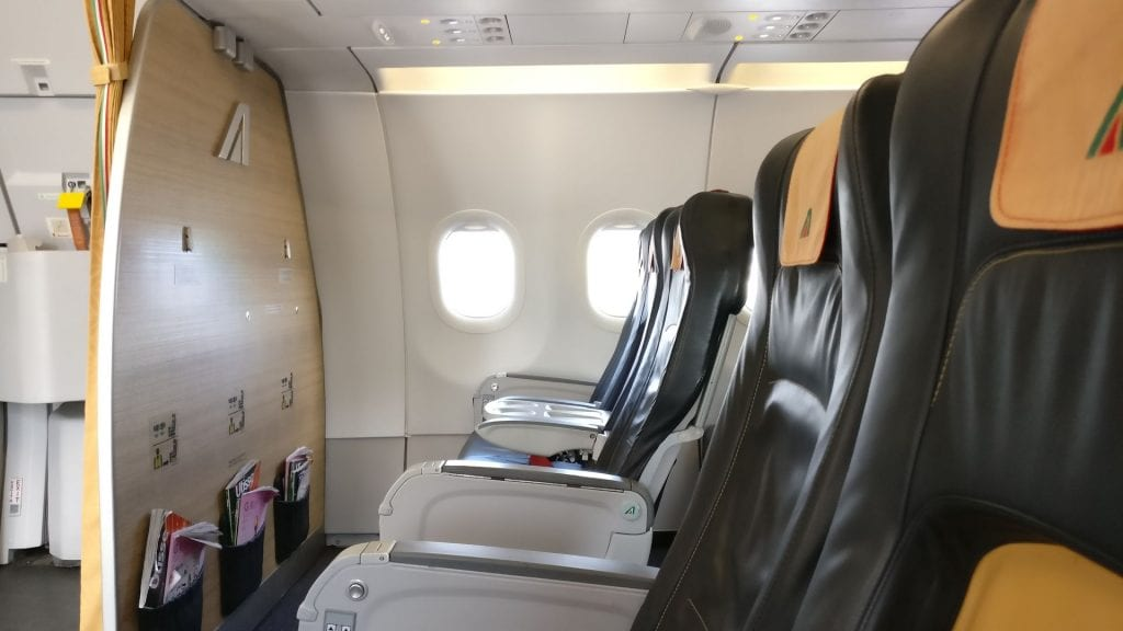 Alitalia Business Class Airbus A320 Cabin 2