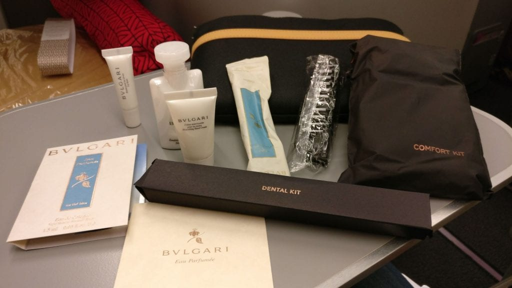Alitalia Business Class Airbus A330 Amenity Kit