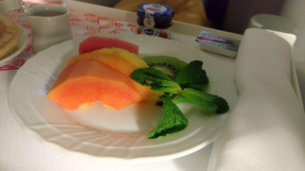 Alitalia Business Class Airbus A330 Breakfast 2