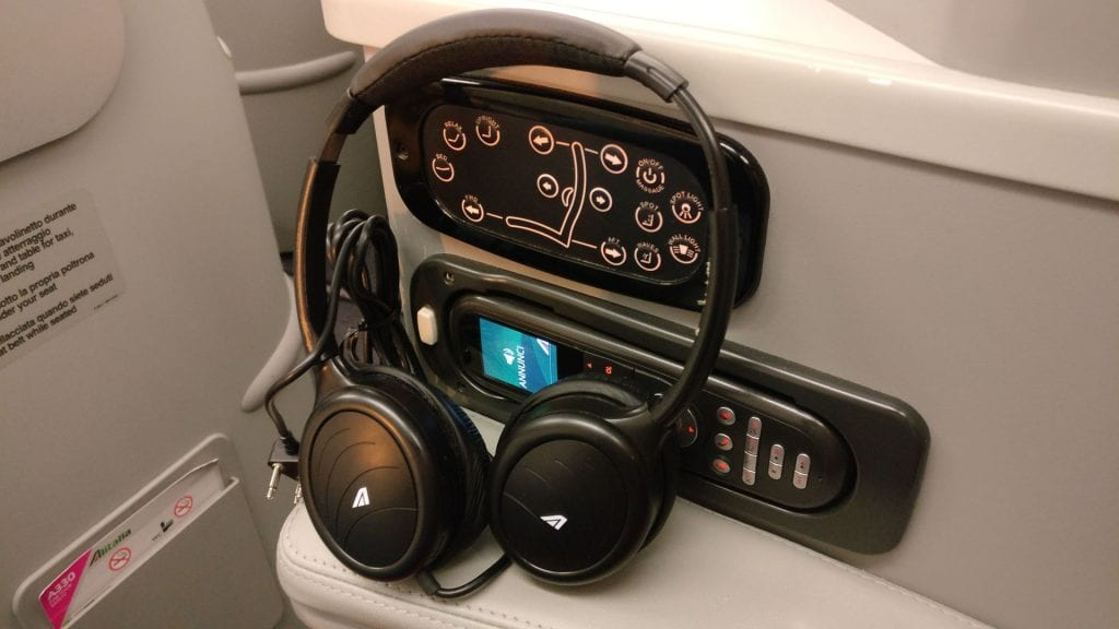 Alitalia Business Class Airbus A330 Headphones