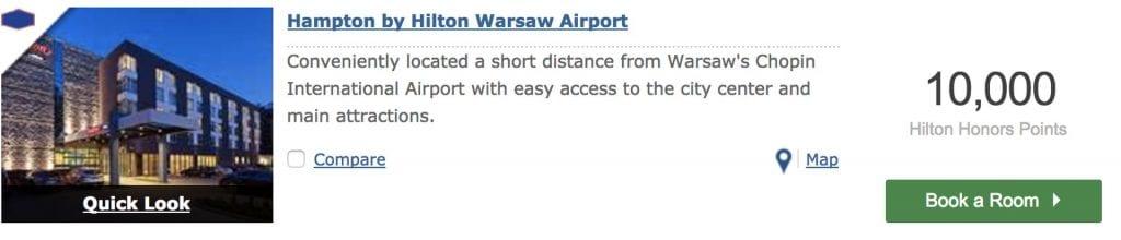 Hampton by Hilton Warsaw Airport Punkteeinlösung