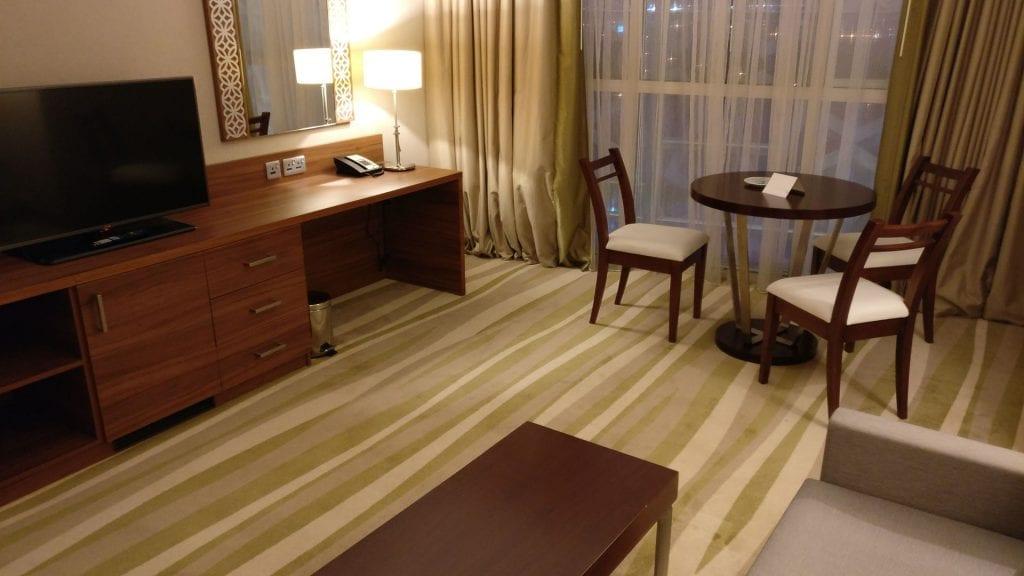 Hilton Garden Inn Dubai Al Muraqabat Suite Living Room 2