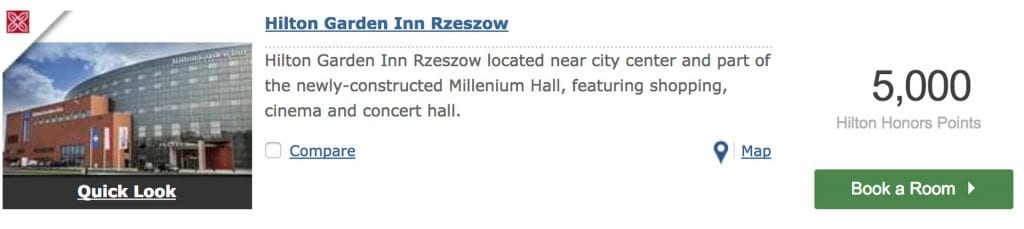 Hilton Garden Inn Rzeszow Punkteeinlösung