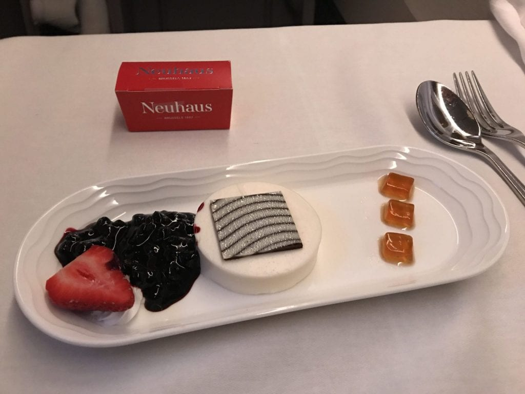 Emirates Business Class Boeing B777 Catering Desser