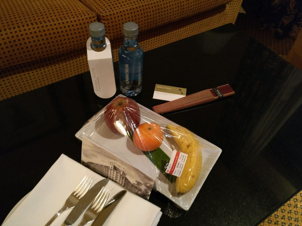 InterContinental Madrid Welcome Treatment