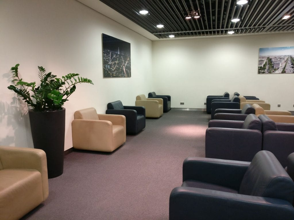 Lufthansa Business Lounge Paris Seating