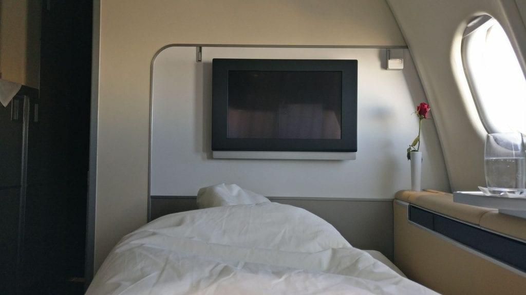 Lufthansa First Class Bed 2 7