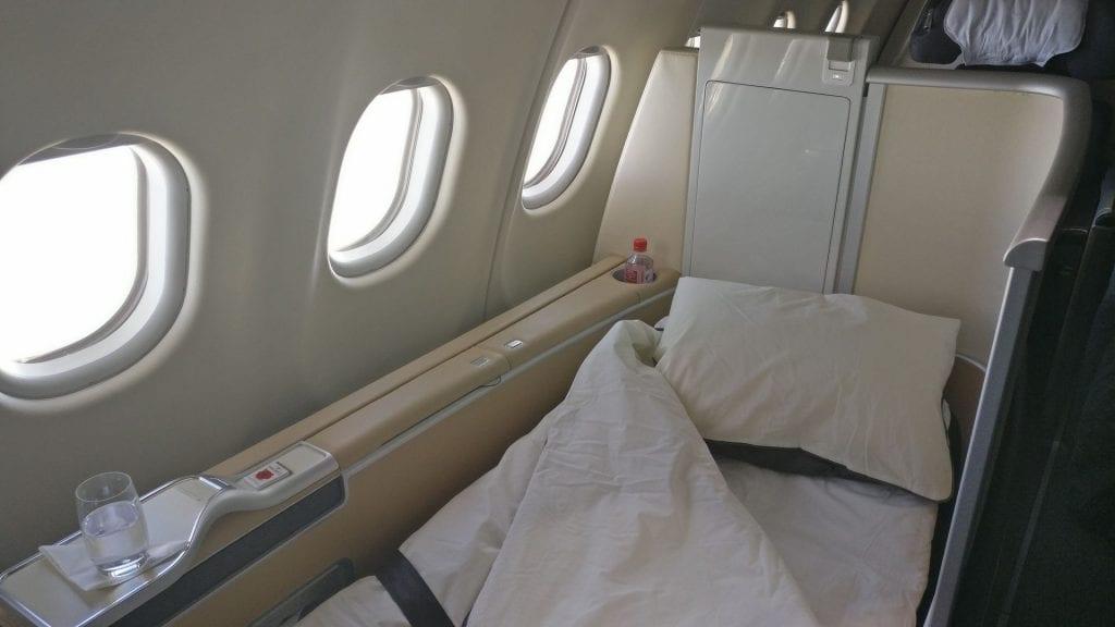 Lufthansa First Class Bed 6
