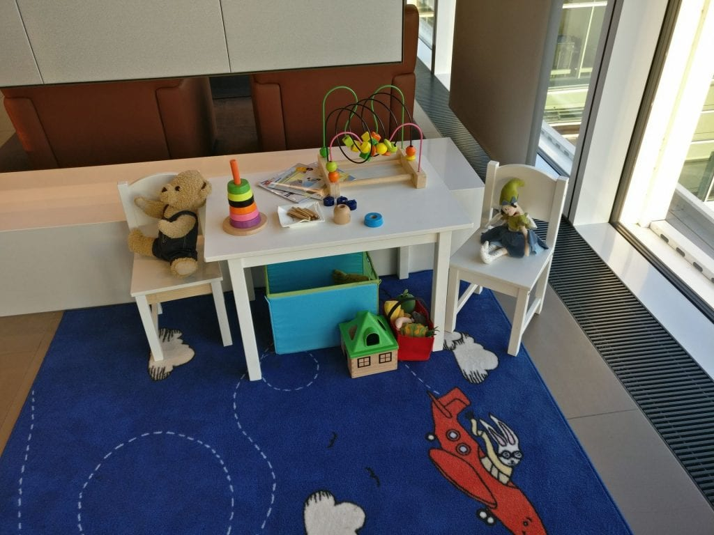Lufthansa First Class Lounge Munich Kids Corner