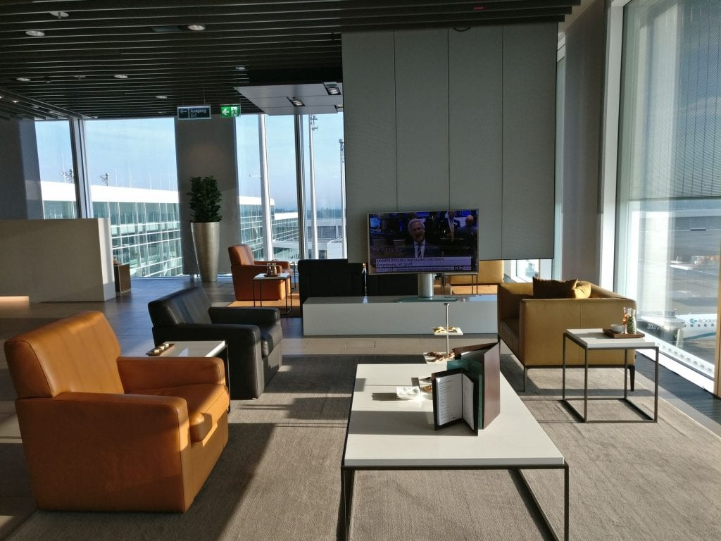 Lufthansa First Class Lounge Munich Seating 10