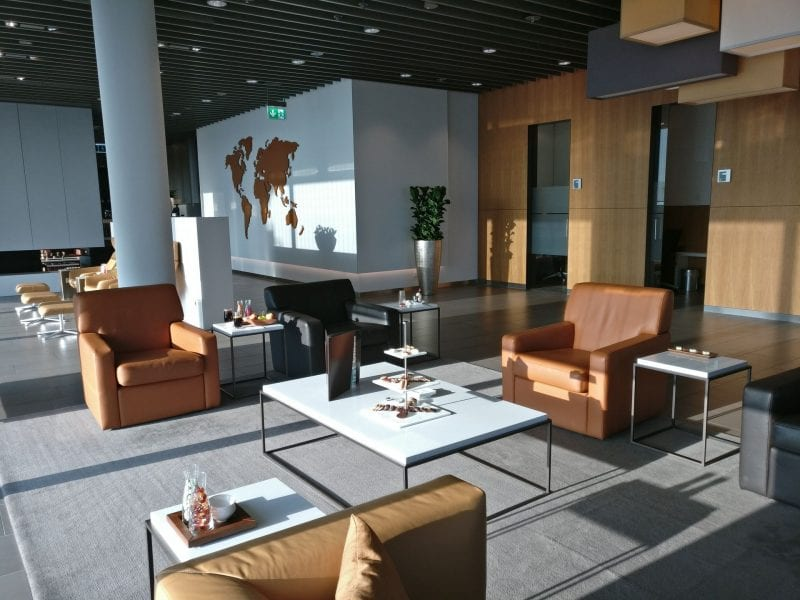 Lufthansa First Class Lounge Munich Seating