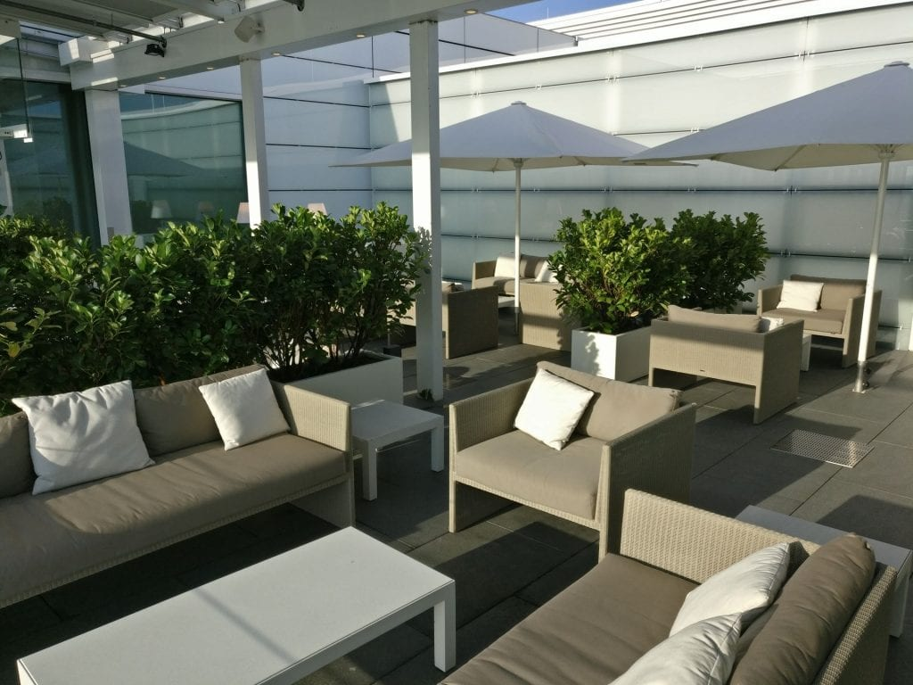 Lufthansa First Class Lounge Munich Terrace 2