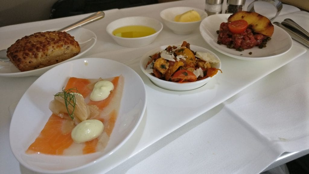 Lufthansa First Class Lunch 3