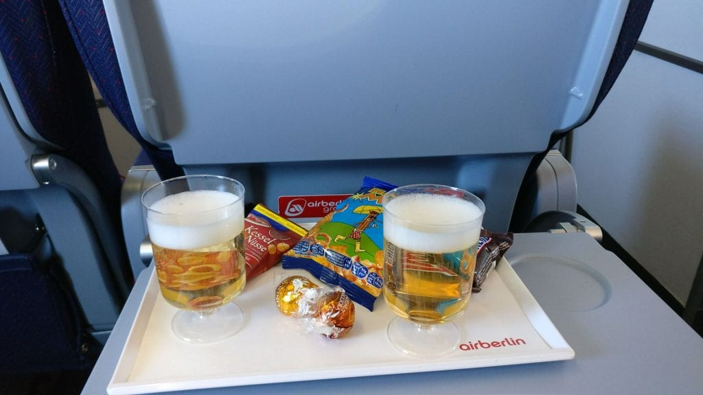 airberlin Economy Class Champagner
