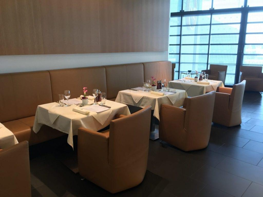 lufthansa first class lounge a restaurant