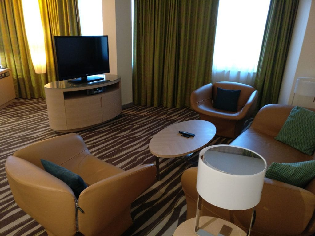 Hilton Frankfurt Airport Executive Suite Living Room 2